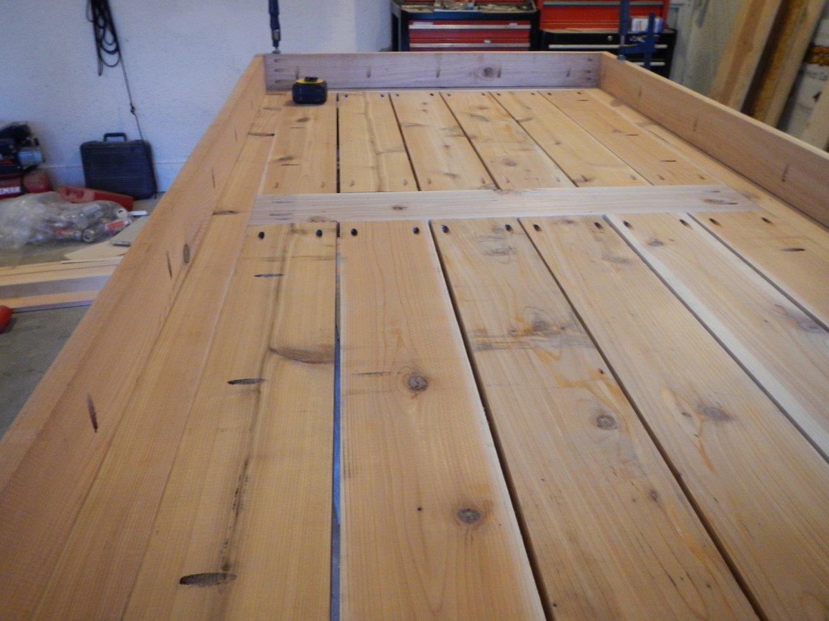 Cedar Patio Table Underside