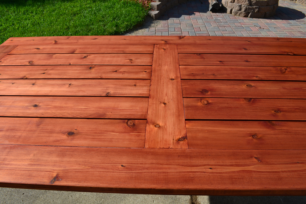 Bryan S Site The Finished Diy Cedar Patio Table