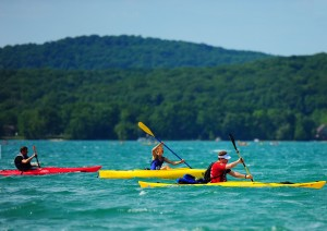 Kayaking in Glen Lake for the 2012 M22 Challenge!
