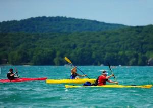 Kayaking in Glen Lake for the 2012 M22 Challenge!