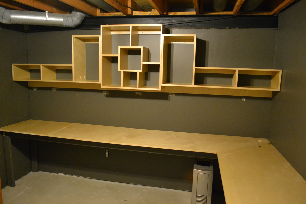 Bryan S Site Basement Office Shelf